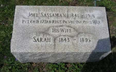 SASSAMAN  (CW), JOEL - Schuylkill County, Pennsylvania | JOEL SASSAMAN  (CW) - Pennsylvania Gravestone Photos