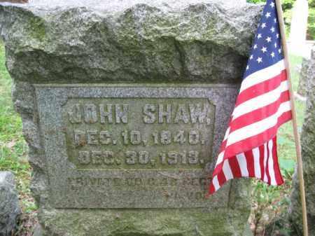 SHAW (CW), PVT.JOHN - Schuylkill County, Pennsylvania   PVT.JOHN SHAW (CW) - Pennsylvania Gravestone Photos