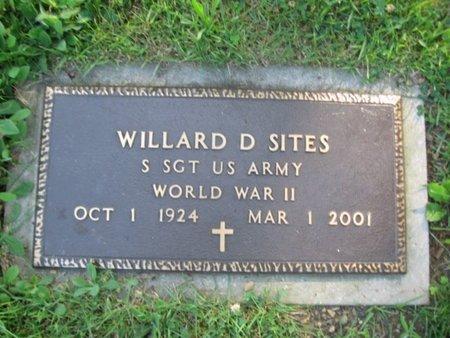 SITES, WILLARD D. - Schuylkill County, Pennsylvania   WILLARD D. SITES - Pennsylvania Gravestone Photos