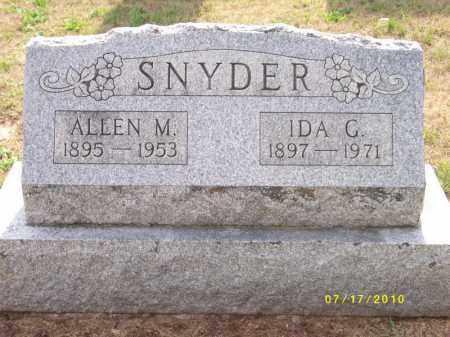 SNYDER, IDA G. - Schuylkill County, Pennsylvania | IDA G. SNYDER - Pennsylvania Gravestone Photos