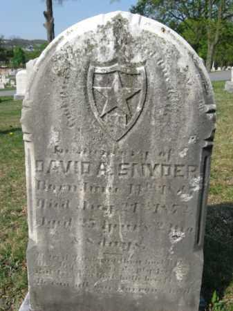 SNYDER, DAVID A. - Schuylkill County, Pennsylvania   DAVID A. SNYDER - Pennsylvania Gravestone Photos