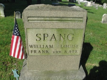 SPANG (CW), WILLIAM - Schuylkill County, Pennsylvania | WILLIAM SPANG (CW) - Pennsylvania Gravestone Photos
