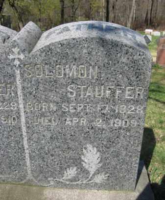 STAUFFER, SOLOMON - Schuylkill County, Pennsylvania | SOLOMON STAUFFER - Pennsylvania Gravestone Photos