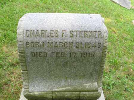 STERNER, CHARLES F. - Schuylkill County, Pennsylvania | CHARLES F. STERNER - Pennsylvania Gravestone Photos