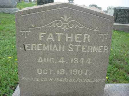 STERNER (CW), PVT.JEREMIAH - Schuylkill County, Pennsylvania | PVT.JEREMIAH STERNER (CW) - Pennsylvania Gravestone Photos