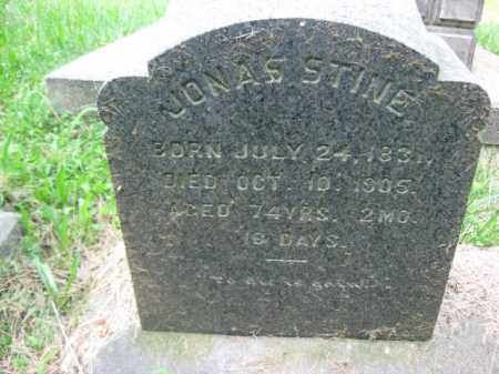 STINE, JONAS - Schuylkill County, Pennsylvania | JONAS STINE - Pennsylvania Gravestone Photos