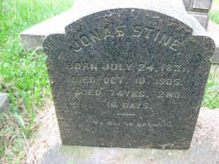 STINE, JONAS - Schuylkill County, Pennsylvania   JONAS STINE - Pennsylvania Gravestone Photos