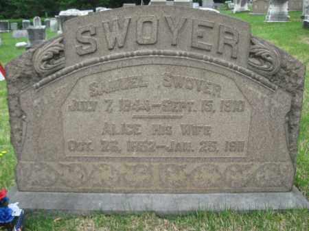 SWOYER, SAMUEL - Schuylkill County, Pennsylvania   SAMUEL SWOYER - Pennsylvania Gravestone Photos