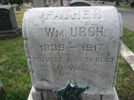 URCH (CW), PVT.WILLIAM - Schuylkill County, Pennsylvania | PVT.WILLIAM URCH (CW) - Pennsylvania Gravestone Photos
