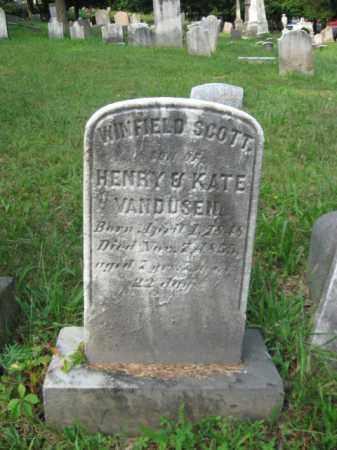 VAN DUSEN, WINFIELD SCOTT - Schuylkill County, Pennsylvania | WINFIELD SCOTT VAN DUSEN - Pennsylvania Gravestone Photos