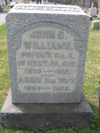 WILLIAMS (CW), JOHN D. - Schuylkill County, Pennsylvania | JOHN D. WILLIAMS (CW) - Pennsylvania Gravestone Photos