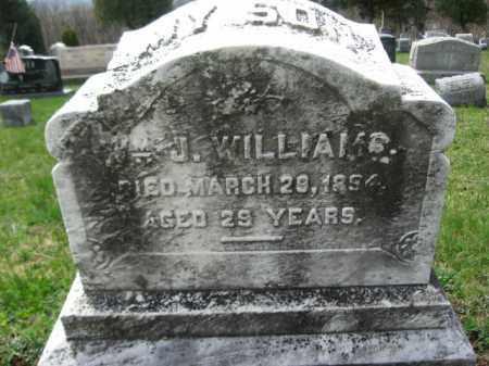 WILLIAMS, WILLIAM J. - Schuylkill County, Pennsylvania | WILLIAM J. WILLIAMS - Pennsylvania Gravestone Photos