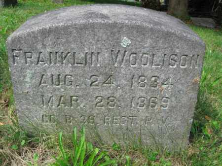 WOOLISON (WOOLESON) (CW), FRANKLIN - Schuylkill County, Pennsylvania | FRANKLIN WOOLISON (WOOLESON) (CW) - Pennsylvania Gravestone Photos