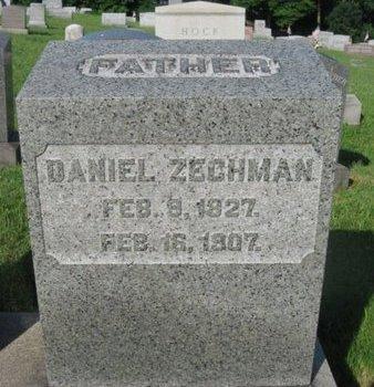 ZECHMAN (CW), DANIEL - Schuylkill County, Pennsylvania   DANIEL ZECHMAN (CW) - Pennsylvania Gravestone Photos