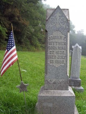 BITTNER (CW), JOSIAH F. - Somerset County, Pennsylvania | JOSIAH F. BITTNER (CW) - Pennsylvania Gravestone Photos