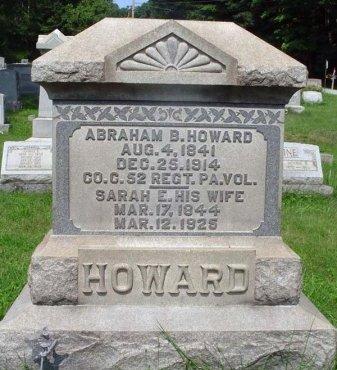 HOWARD (CW), ABRAHAM B. - Somerset County, Pennsylvania | ABRAHAM B. HOWARD (CW) - Pennsylvania Gravestone Photos
