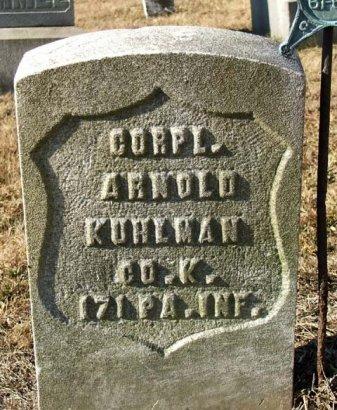 KUHLMAN (CW), ARNOLD - Somerset County, Pennsylvania | ARNOLD KUHLMAN (CW) - Pennsylvania Gravestone Photos