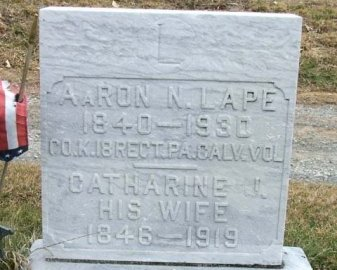 LAPE (CW), AARON N. - Somerset County, Pennsylvania | AARON N. LAPE (CW) - Pennsylvania Gravestone Photos