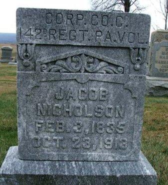 NICHOLSON (CW), JACOB - Somerset County, Pennsylvania | JACOB NICHOLSON (CW) - Pennsylvania Gravestone Photos