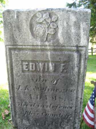 ADAMS, EDWIN F. - Susquehanna County, Pennsylvania | EDWIN F. ADAMS - Pennsylvania Gravestone Photos