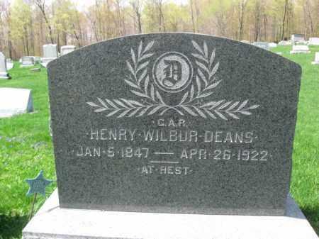 DEANS (CW), HENRY WILBUR - Susquehanna County, Pennsylvania | HENRY WILBUR DEANS (CW) - Pennsylvania Gravestone Photos