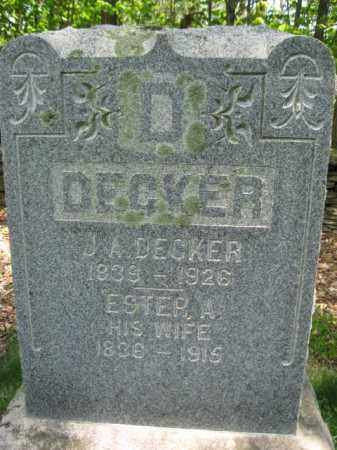 DECKER (CW), JAMES A. - Susquehanna County, Pennsylvania   JAMES A. DECKER (CW) - Pennsylvania Gravestone Photos