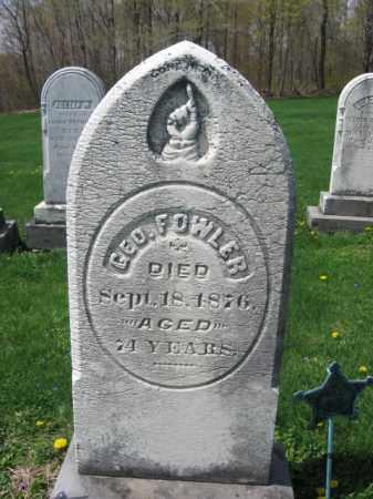 FOWLER, GEORGE - Susquehanna County, Pennsylvania | GEORGE FOWLER - Pennsylvania Gravestone Photos