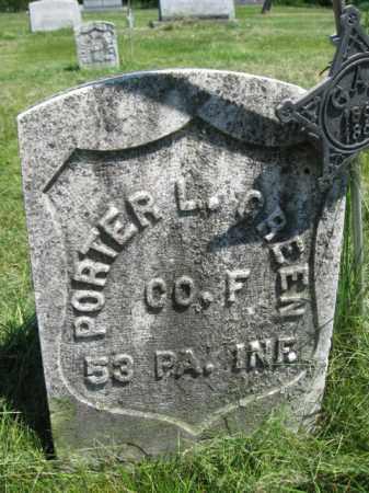 GREEN (CW), PORTER L. - Susquehanna County, Pennsylvania | PORTER L. GREEN (CW) - Pennsylvania Gravestone Photos
