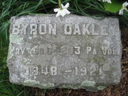 OAKLEY (CW), BYRON - Susquehanna County, Pennsylvania   BYRON OAKLEY (CW) - Pennsylvania Gravestone Photos