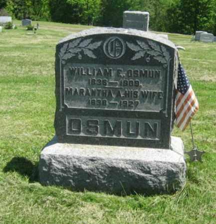 OSMUN (CW), WILLIAM E. - Susquehanna County, Pennsylvania   WILLIAM E. OSMUN (CW) - Pennsylvania Gravestone Photos