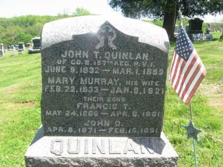 QUINLAN (CW), JOHN T. (F) - Susquehanna County, Pennsylvania   JOHN T. (F) QUINLAN (CW) - Pennsylvania Gravestone Photos