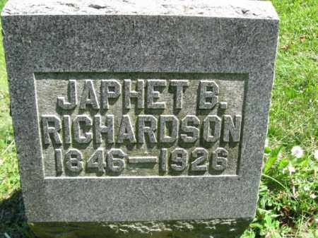 RICHARDSON, JAPHET B. - Susquehanna County, Pennsylvania | JAPHET B. RICHARDSON - Pennsylvania Gravestone Photos