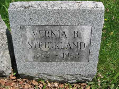 STRICKLAND, VERNIA B. - Susquehanna County, Pennsylvania | VERNIA B. STRICKLAND - Pennsylvania Gravestone Photos