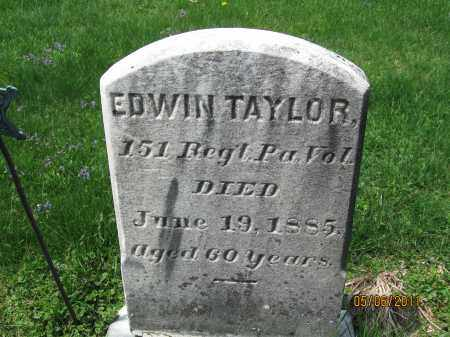 TAYLOR (CW), EDWIN - Susquehanna County, Pennsylvania   EDWIN TAYLOR (CW) - Pennsylvania Gravestone Photos