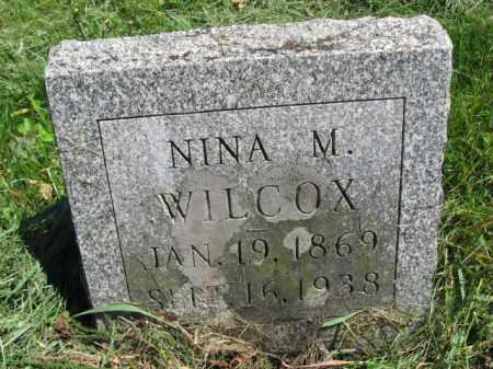 WILCOX, NINA M. - Susquehanna County, Pennsylvania | NINA M. WILCOX - Pennsylvania Gravestone Photos