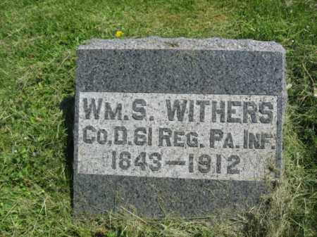WITHERS (CW), WILLIAM S. - Susquehanna County, Pennsylvania   WILLIAM S. WITHERS (CW) - Pennsylvania Gravestone Photos