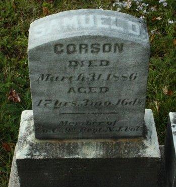 CORSON (CW), SAMUEL D. - Tioga County, Pennsylvania | SAMUEL D. CORSON (CW) - Pennsylvania Gravestone Photos