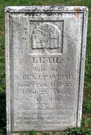 PAWLING, LEAH - Union County, Pennsylvania   LEAH PAWLING - Pennsylvania Gravestone Photos