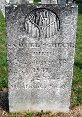 SCHUCK, SAMUEL - Union County, Pennsylvania | SAMUEL SCHUCK - Pennsylvania Gravestone Photos