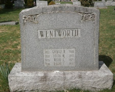 WENTWORTH, NELLIE - Warren County, Pennsylvania | NELLIE WENTWORTH - Pennsylvania Gravestone Photos