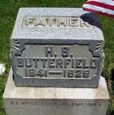 BUTTERFIELD (CW), HAMILTON S. - Washington County, Pennsylvania | HAMILTON S. BUTTERFIELD (CW) - Pennsylvania Gravestone Photos