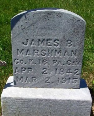MARSHMAN (CW), JAMES BIRNEY - Washington County, Pennsylvania   JAMES BIRNEY MARSHMAN (CW) - Pennsylvania Gravestone Photos