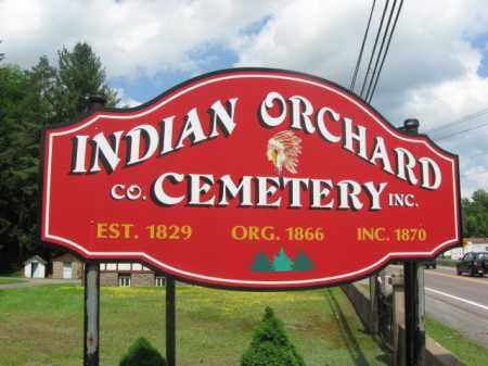 CEMETERY SIGN, INDIAN ORCHARD - Wayne County, Pennsylvania | INDIAN ORCHARD CEMETERY SIGN - Pennsylvania Gravestone Photos