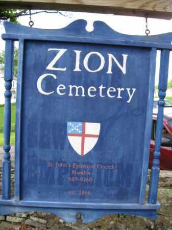 CEMETERY SIGN, ZION - Wayne County, Pennsylvania | ZION CEMETERY SIGN - Pennsylvania Gravestone Photos