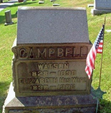 CAMPBELL (CW), WATSON - Westmoreland County, Pennsylvania | WATSON CAMPBELL (CW) - Pennsylvania Gravestone Photos