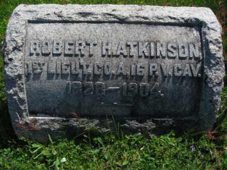 ATKINSON, LIEUT. ROBERT H. - Wyoming County, Pennsylvania   LIEUT. ROBERT H. ATKINSON - Pennsylvania Gravestone Photos