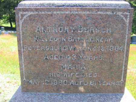BERSCH (CW), ANTHONY - Wyoming County, Pennsylvania | ANTHONY BERSCH (CW) - Pennsylvania Gravestone Photos