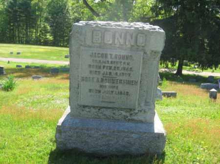 BONNO (CW), SERG. JACOB T. - Wyoming County, Pennsylvania | SERG. JACOB T. BONNO (CW) - Pennsylvania Gravestone Photos