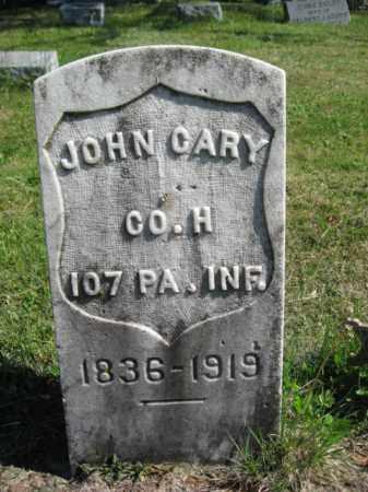 CARY (CORY) (CW), JOHN - Wyoming County, Pennsylvania | JOHN CARY (CORY) (CW) - Pennsylvania Gravestone Photos