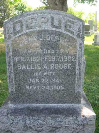 DEPUE (CW), JOHN J. - Wyoming County, Pennsylvania | JOHN J. DEPUE (CW) - Pennsylvania Gravestone Photos